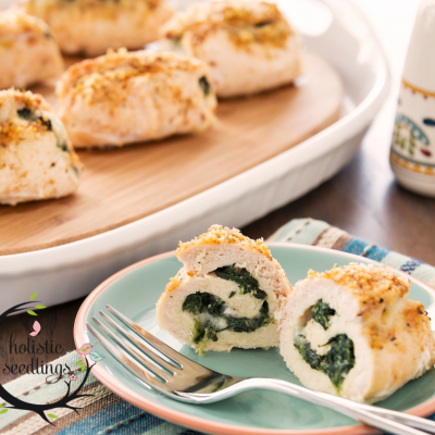 Easy Stuffed Chicken with spinach and creme fraiche