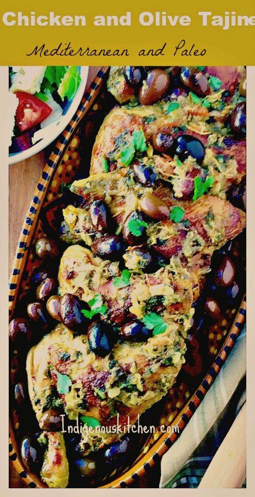 chicken and olive tajine