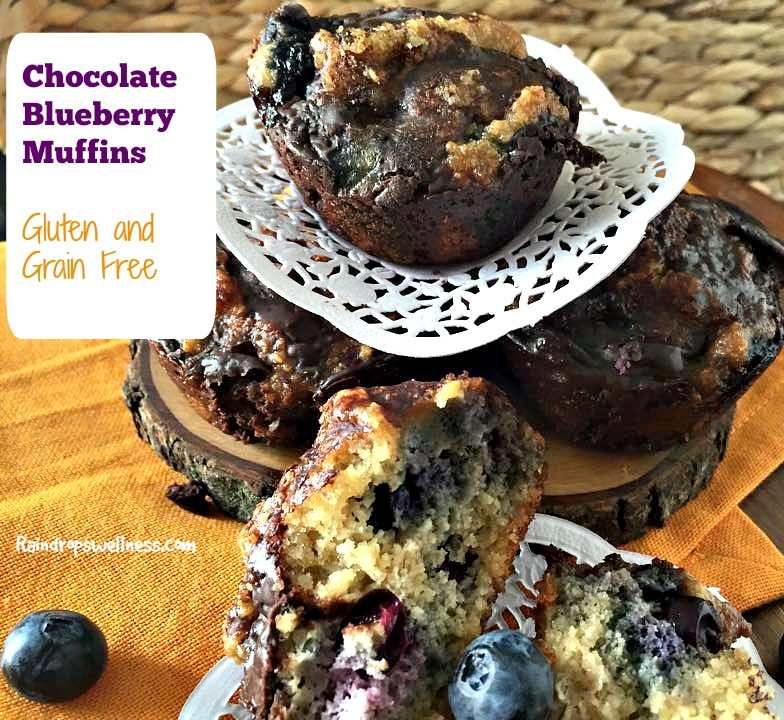 chocolate and bluberry muffins