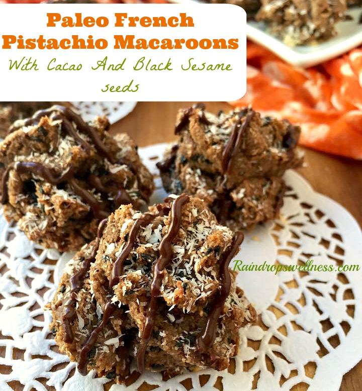 Paleo French Pistachio Macaroons | Raindrops Wellness