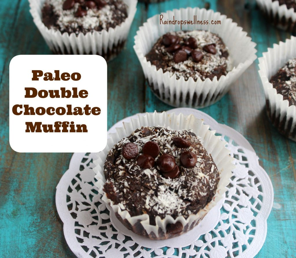 Paleo double chocolate muffin