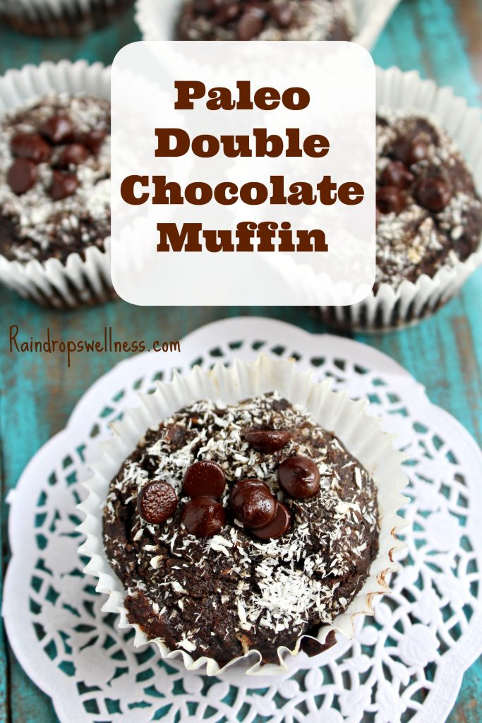 Paleo double chocolate muffin recipe
