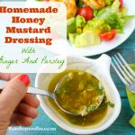 Homemade honey mustard dressing