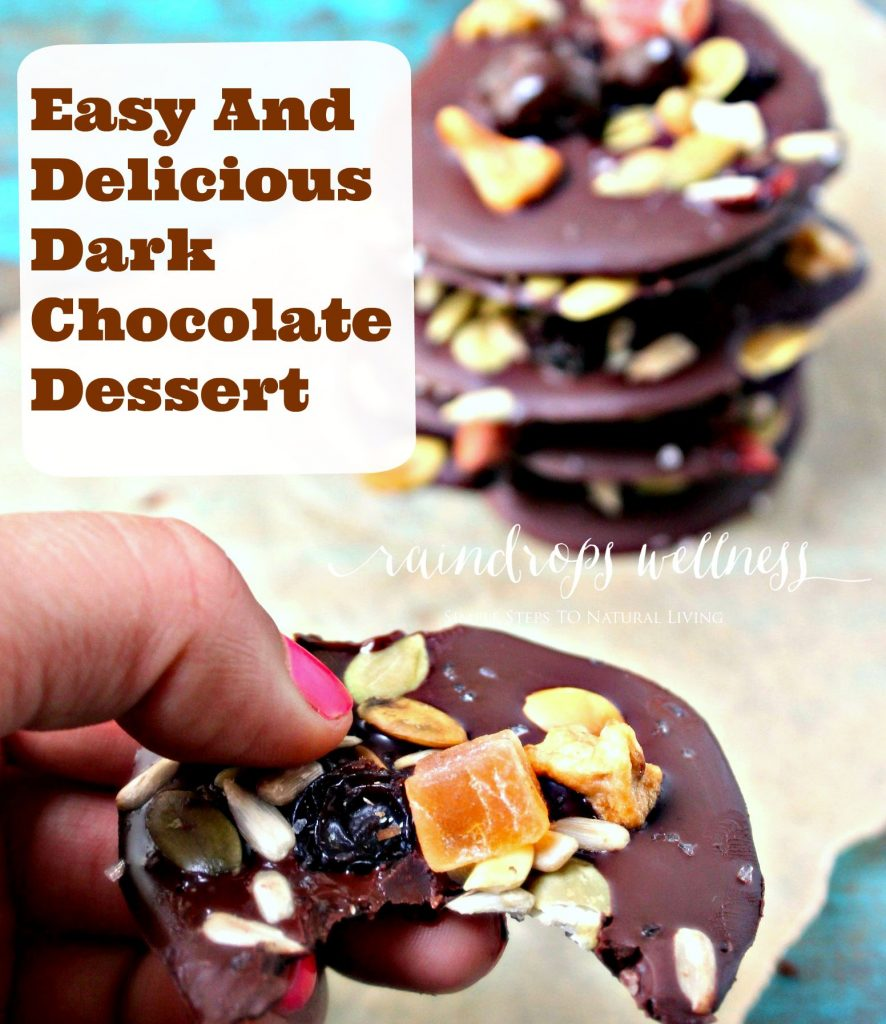 Chocolate benefits and  dessert recipe