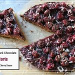 Paleo Dark Chocolate Torte With Cherry Sauce