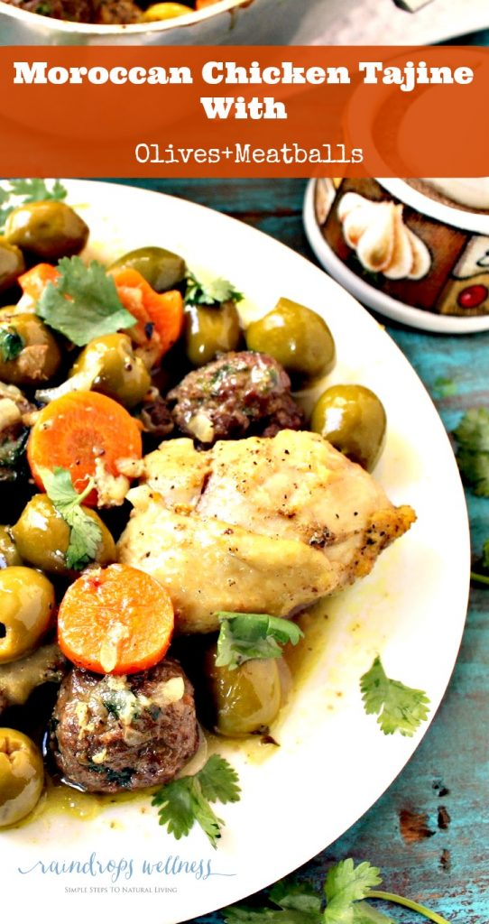 Moroccan chicken tajine with meatballs