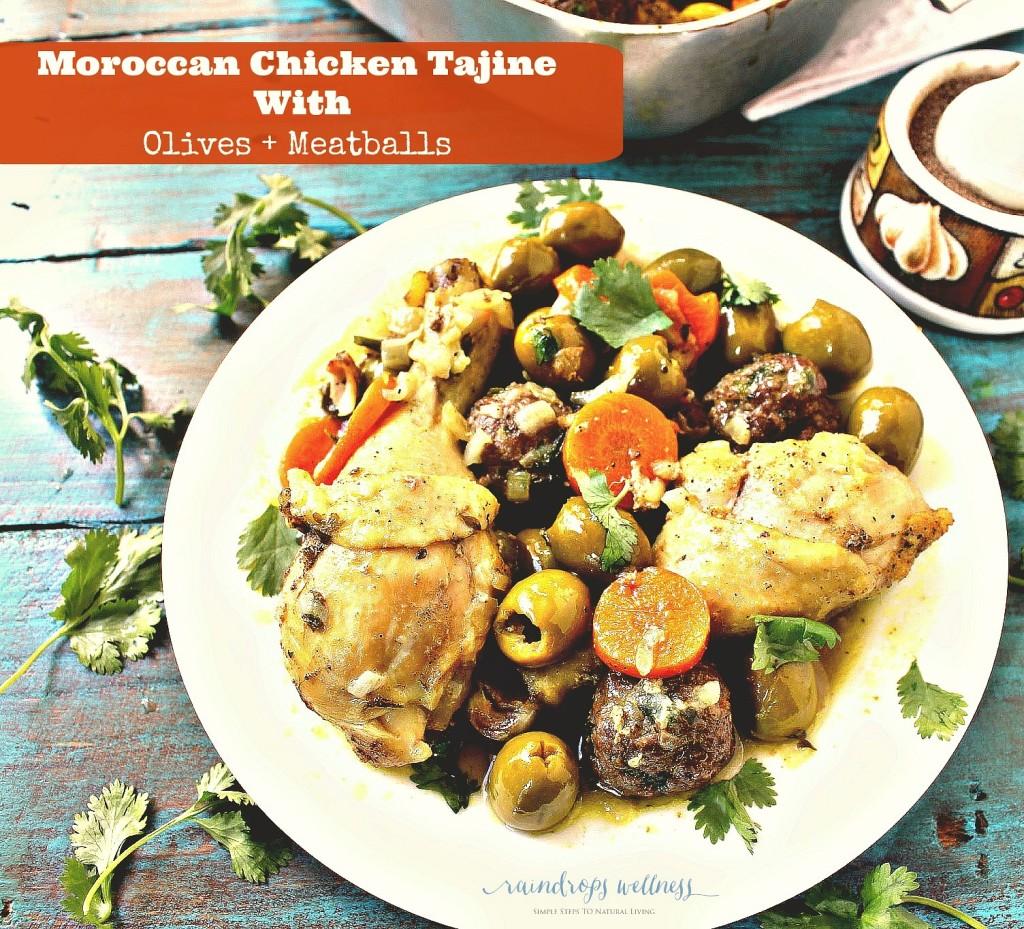 Moroccan chicken and meatball tajine