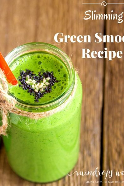Great and easy slimming green smoothie recipe on the go