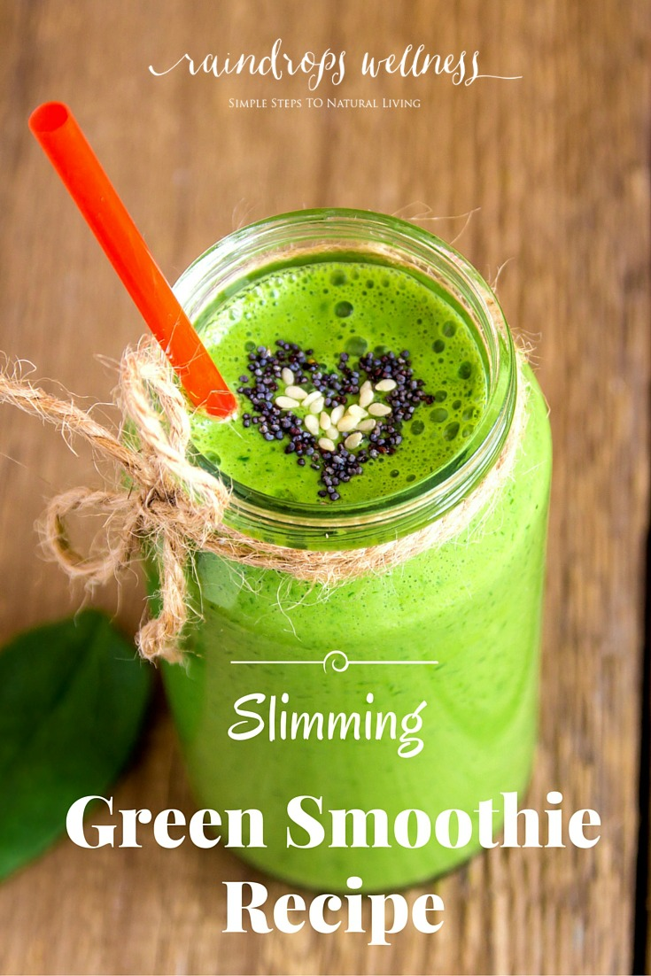 This slimming green smoothie is a perfect way to start your day via @raindropswell