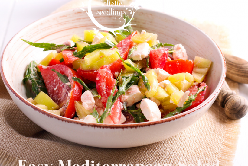 This easy low carb salad is perfect for a hot summer day
