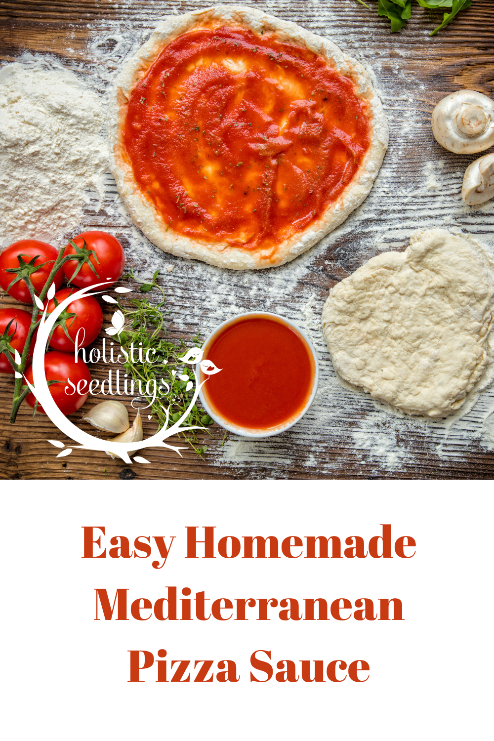 Homemade Mediterranean Pizza Sauce via @raindropswell