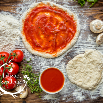 Easy low carb and gluten free Mediterranean pizza sauce