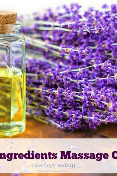2 ingredients massage oil